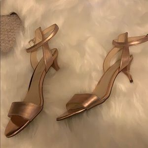 Rose gold Nine west dress shoes